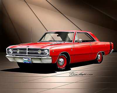 Dodge Dart 1968  fine art print poster by artist Danny Whitfield