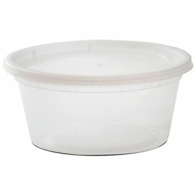 48ct 12oz Microwaveable Clear Plastic Deli Soup Containers With Lids