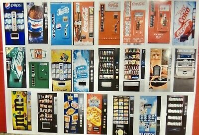 ONE 1:18 SCALE VENDING MACHINE for DIORAMAS/DOLLHOUSES (CHOOSE FROM 20 CHOICES!)