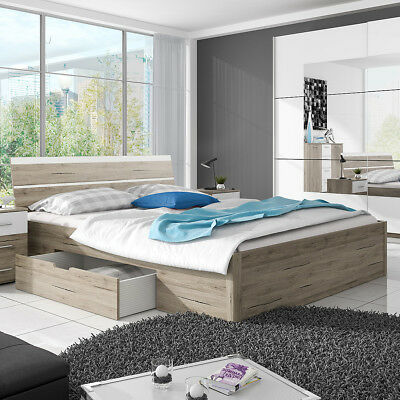 bett stefan bettgestell ehebett schlafzimmer. Black Bedroom Furniture Sets. Home Design Ideas
