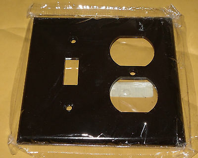 Eagle, 2 Gang, 1 Toggle, 1 Duplex, Wall Plate, Brown, Lot of 10 New, Bakelite
