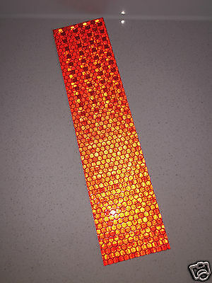 Hi-Vis Red Adhesive Reflective Caution Tape Strip 50mm x 200mm