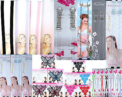 Lot of 12 invisible clear multi Bras straps wholesale mixed bra strap