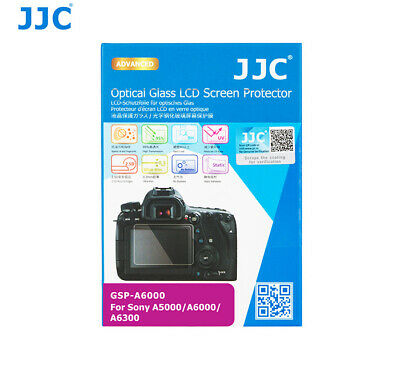 JJC 9H HD Optical Tempered Glass LCD Screen Protector for SONY A6000 A6300 A5000