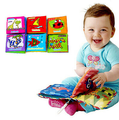 New Soft Cloth Baby Kid Intelligence Development Learn Picture Cognize Book q11