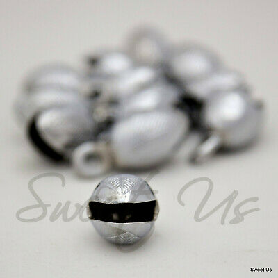 """One Dozen 1.5"""" One and Half Inches High Chrome Plated Acorn Shaped Brass Bells"""