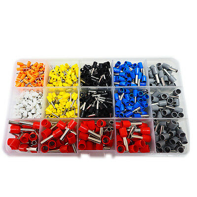 600pc - 0.5mm2 to 6mm2 Cable crimp-Bootlace Ferrule Kit - Cord End Terminal Set