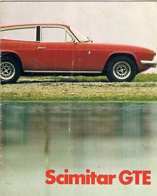Reliant Scimitar GTE 1973 UK Market Sales Brochure