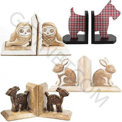 Childrens Wooden Bookends Nursery Girls Boys Kids Book Ends Home Decoration Gift