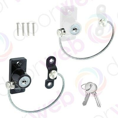 UPVC SAFETY WINDOW RESTRICTOR Lock Door Child Security Chain Wire Cable Metal