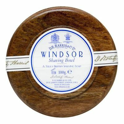DR Harris & Co Windsor Shaving Soap with Wooden Mahogany Shave Bowl