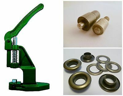 Eyelet press + Tool + 500 4mm rust-free antique, for Leather, Textile, Felt