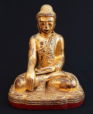 Antique Wooden Mandalay Buddha Statue for Sale | Antique Buddha Statues