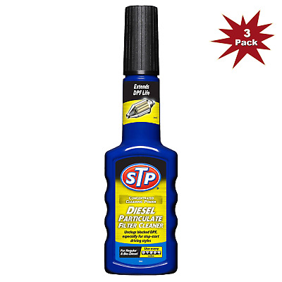 STP Diesel Particulate Filter Cleaner 200ml - Cleans Blocked DPF - 3pk