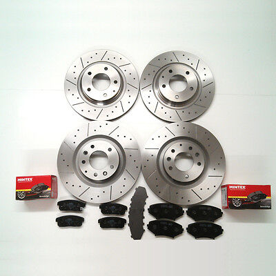 Mazda RX8 323mm Front And Rear Dimpled And Grooved Brake Discs And Mintex Pads