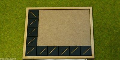 MDF laser cut MOVEMENT TRAY (6×5) 25mm Infantry Bases