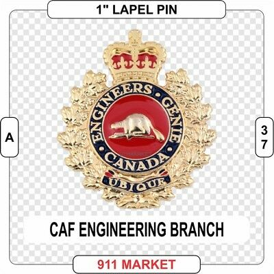 "Engineering Branch 1"" Lapel Pin Canadian Forces CAF Cap Branch Badge CAF -  A 37"