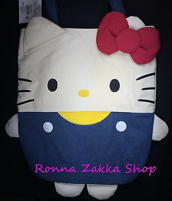 Brand New Japan License Sanrio Original Hello Kitty shape Large shoulder totebag