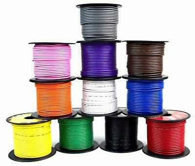 10 GA GAUGE 11 ROLLS 100 FT SPOOLS PRIMARY AUTO REMOTE POWER GROUND WIRE CABLE