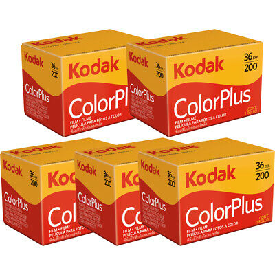 5 Rolls Kodak ColorPlus 200 36 Exp. Color Plus 35mm Color Film, US SELLER