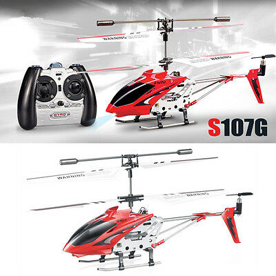 Syma S107G 3-Channel 3.5CH Mini Remote Control RC Helicopter Gyro Genuine Red