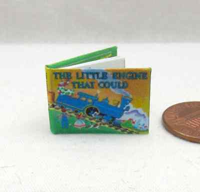 1:12 MINIATURE BOOK THE LITTLE ENGINE THAT COULD ILLUSTRATED
