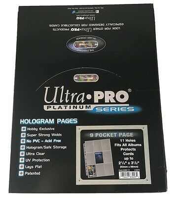 Ultra Pro Hüllen für 9 Karten - 9-Pocket Pages platinum (100 St.)