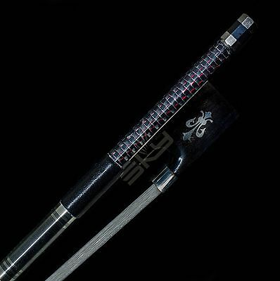 Violin Bow 4/4 Size Carbon Fiber with Silver Inlay Horse Hair Top Quality New