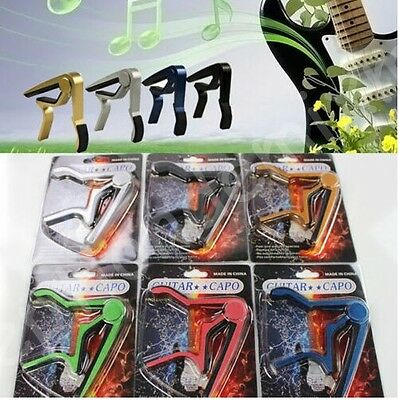 Tune Capo Quick Change 6 Colors Pick Bass Clamp For Electric Acoustic Guitar