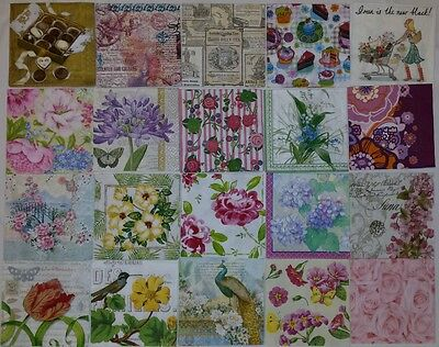 20 paper napkins for decoupage & crafts cocktail size  3-ply made in Germany