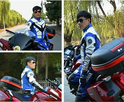 PU Leather Racing Jacket For YAMAHA Yzf R1 R6 Motorcycle  Red/Blue/Black M L XL