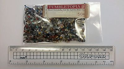 50g BAG Mixed Semi Precious Gemstone FINE Chips TUMBLETOPIA TUMBLESTONES Zero