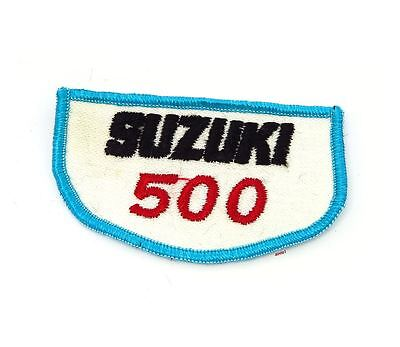 NOS Vintage Suzuki 500 Patch - Street Dirt Motocross Motorcycle 70's 80's