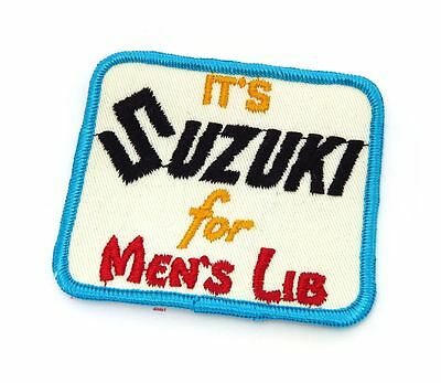 NOS Vintage It's Suzuki For Men's Lib Patch - Motocross Motorcycle 70's 80's