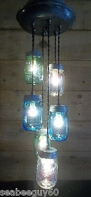 Milk Can Dairy Can Vintage Cast Iron Light Fixture RUSTIC Chandelier Mason Jars