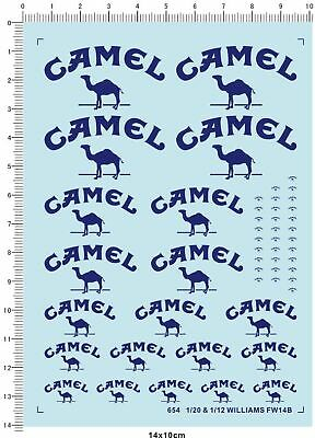 Camel decals for 1/20 & 1/12 FW14B  654