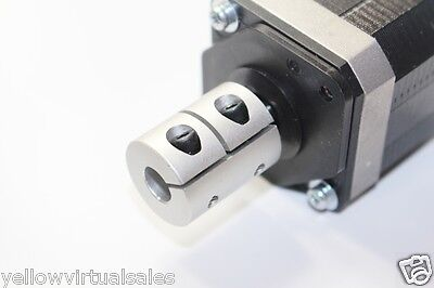 5mm x 10mm Rigid Shaft Ballscrew Coupler CNC Stepper Servo Motor Coupling Clamp
