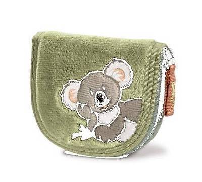 Nici Germany Koala Green Plush Wallet Coin Purse NWT Retired Design