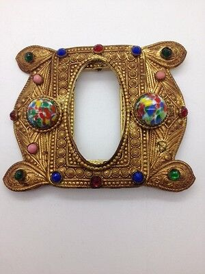 OLD ornate Bejeweled Victorian? Sash Clip or Belt Buckle