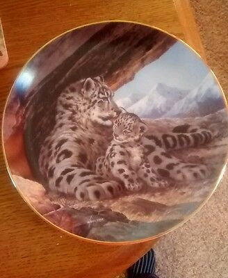 """""""The Snow Leopard"""" 1989  Will Nelson Decorative Plate"""