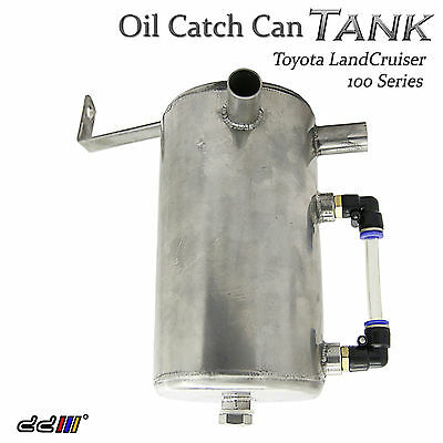 New Oil Catch Can Tank Fit Toyota Landcruiser 100 105 Series FJ100 Diesel Turbo