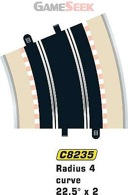 Scalextric Radius 4 Curve 22.5 Degree X2 1:32 Scale - Electronic Toys Brand New