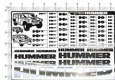 chrome(metal) decals hummer  H1 H2 H3   (3741)