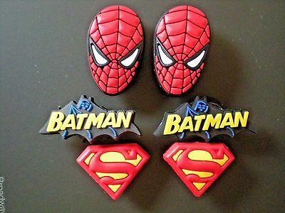 Jibbitz Shoe Plug Button Charms Fit Crocs Wristbands Belts 6 Spiderman Superman