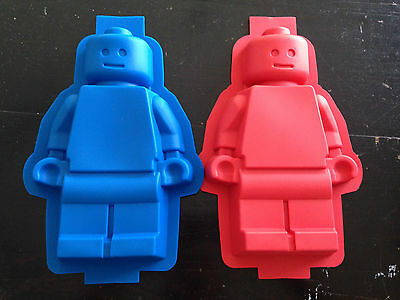 XX LARGE Lego Man Minifigure Silicone Cake Pan Baking Tray Mold Mould Party Fun