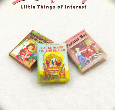 LITTLE HOUSE ON THE PRAIRIE Set (3) Miniature Books 1:12 Scale Laura Ingalls