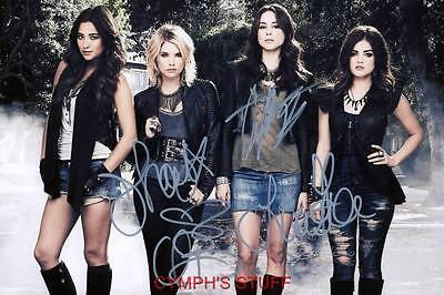 PRETTY LITTLE LIARS CAST OF 4 SIGNED AUTOGRAPH REPRINT #1
