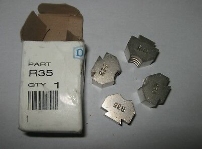Dixon R35 Ribbed Die Set For Use With BFM625 Brass Ferrule, New