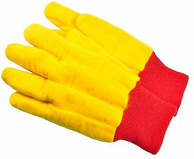 G & F 5414 - 144 Pairs Heavyweight Yellow Chore Gloves Double Layer, Large