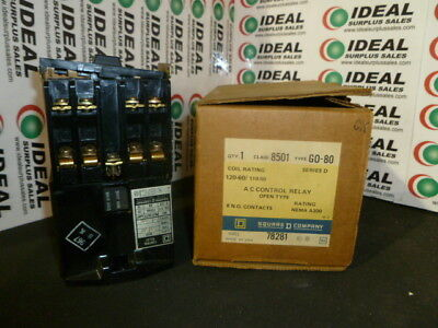 Square D 8501 G0-80 Control Relay Series D New